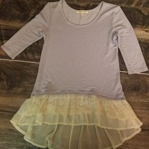 Living doll light purple top ruffle bottom